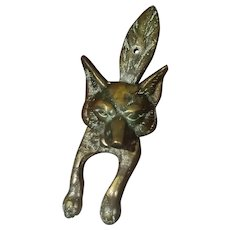 Vintage Fox Brass Door Knocker