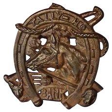Vintage Equestrian Cast Iron Still Bank
