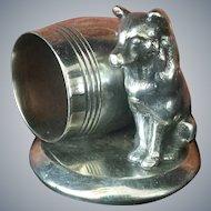 Antique Figural Dog Napkin Ring