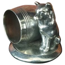 Antique Figural Dog Napkin Ring