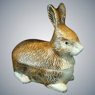 Vintage Petite Rabbit Tureen ~ Michel Caugant