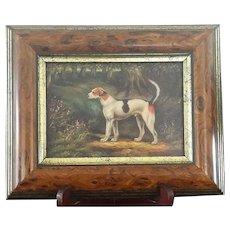 Vintage Fox Hound Original Oil Painting