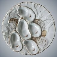 Antique Limoges Turkey Oyster Plate.