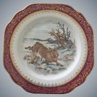 Limoges Rabbit Design Plates ~ Stunning Set of Six