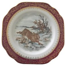 Limoges Rabbit Design Plates ~ Stunning Set of Six