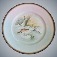 Sebring Pottery Fox Theme Plates ~ Set of Four