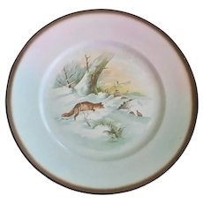Sebring Pottery Fox Theme Plates ~ Set of Four