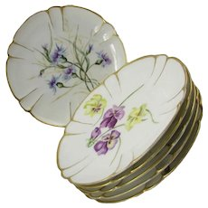 Antique Haviland Floral Plates ~ Set of Six