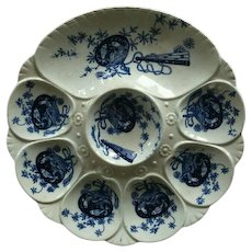 19th Century, Minton, Flow Blue, Oyster Plate
