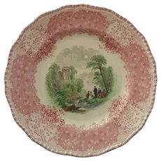 Vintage English Chadham Transferware Plate
