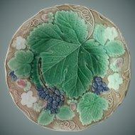 19th Century Majolica Cabinet Plate