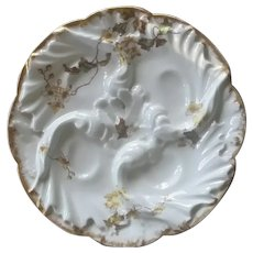 Antique Wave Design, Haviland, Limoges, Oyster Plate