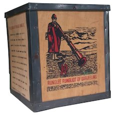 Vintage Darjeeling Tea Tin ~ Box