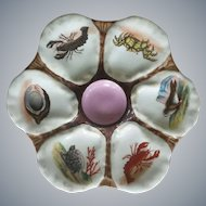 19th Century,  Sea Life, Hand Painted,  Oyster Plate