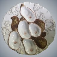 19th Century,  Haviland, Turkey Oyster Plate
