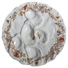 19th Century Haviland Limoges Turkey Oyster Plate