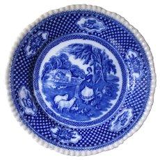 19th Century Transferware Flow Blue English Plate