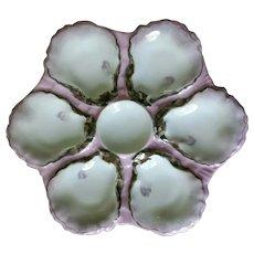 Antique Haviland Pink Oyster Plate