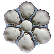 Antique Haviland Blue Oyster Plate