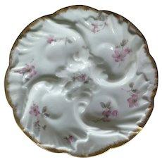 Haviland Pink Floral Oyster Plate