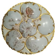 19th Century Haviland Sea Life Oyster Plate