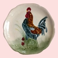 Choisy le Roi, Collectable,  Rooster,  Majolica Plate