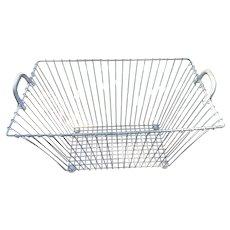 Vintage Large French Zinc Basket