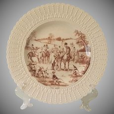 Vintage, Equestrian, Royal Cauldron Fox Hunt, Horse, Plate