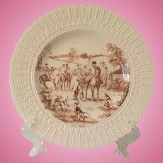 Vintage,  Horse, FOX HUNT PLATE, Royal Cauldron