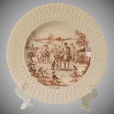 Vintage, Royal Cauldron Fox Hunt, Horse, Plate
