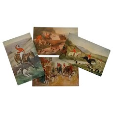 1900's Equestrian ~ Fox Hunt ~ Post Cards