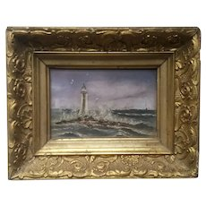Victorian Miniature Lighthouse Painting