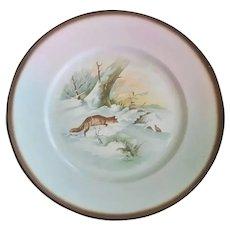 Antique, Fox Theme, Sebring Pottery Plates ~ Set of Four