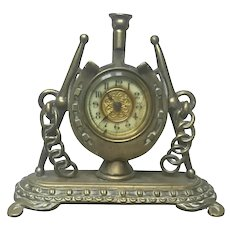 Antique English Clock ~ Equestrian Theme