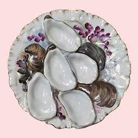 Haviland Turkey Oyster Plate ~ 19th Century