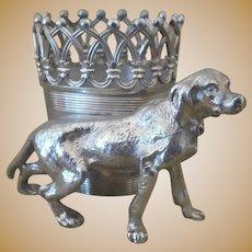 Antique,  James W Tufts,  Figural Dog Toothpick Holder
