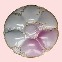 Gorgeous Antique Oyster Plate