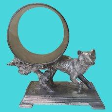 Antique Fox Silverplate Napkin Ring
