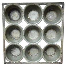 Vintage,  Metal ware,  Muffin Tin
