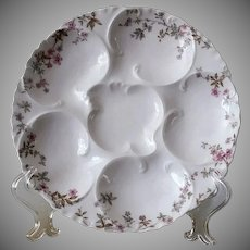 Beautiful Pair of, OYSTER PLATES, Haviland & Co., Limoge France,