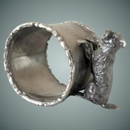 Vintage, Figural, Dog, Napkin Ring