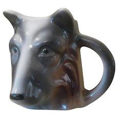 Vintage Porcelain Dog, German Shepherd, Wolf, Toothpick, Match Holder, Vase.