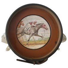 Vintage, Horse Racing, Leather, Coaster / Ashtray