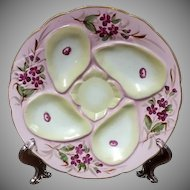 SALE ~ 19th Century Oyster Plate, Rudolstadt, Germany, 1880's