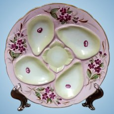19th Century Oyster Plate, Rudolstadt, Germany, 1880's