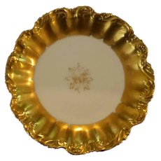 Antique, Lewis Straus & Sons, COIFFE, Limoge, France, Gilded Plates, set of 6