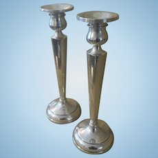 Vintage Sterling Silver Candlestick, Pair