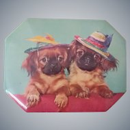 Charming Spaniel Vintage Toffee Tin