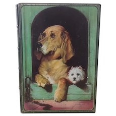 Vintage, Biscuit Tin,  Book Bank, Featuring, Sir Edwin Landseer's, Dignity & Impudence, England
