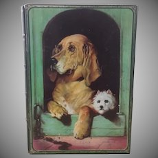 Vintage,  Money Box ~ Tin ~ Featuring, Sir Edwin Landseer's, Dignity & Impudence, England